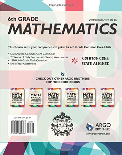 Argo Brothers Math Workbook, Grade 6: Common Core Math Free ...