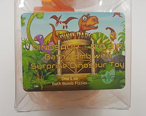 Pure Fun Organic Candy - DINOSAUR Bath Bomb For Kids With Surprise Toys Inside (DINOSAUR) ROAR. USA made, Natural, Organic XL 8 oz Gift Set For Girls/Boys (8 oz Single)