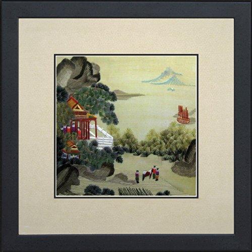 King Silk Art 100% Handmade Embroidery Beautiful Quiet Rural