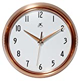 Cheap Silent Clock, 9.5 Inch Brushed Copper Retro Wall Clock by Infinity Instruments