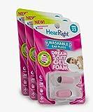 HearRight Dream Soft Ear Plugs – Reusable Ear Plugs for Sleeping – Foam Ear Plugs For Women – (3-Pack)