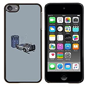 YiPhone /// Prima de resorte delgada de la cubierta del caso de Shell Armor - Back To The Futur Tiempo de Viaje - Apple iPod Touch 6 6th Touch6