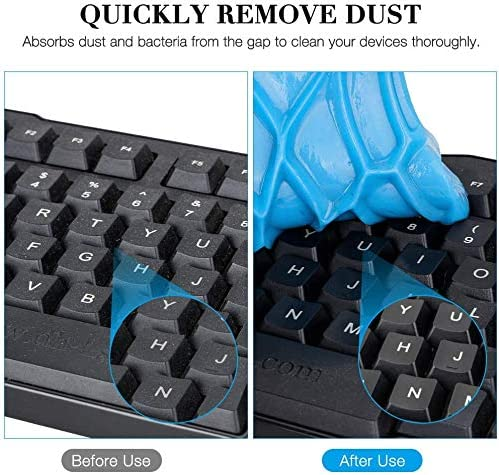 TOPIST Keyboard Cleaner Gel 2Pcs Super Car Cleaning Gel Car Interior Detailing Slime Automotive Dust Air Vent Keyboard Cleaner Putty Dust Removal Mud for Auto PC Tablet Laptop Keyboards Home Office