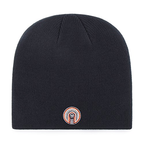 Acrylic Fighting Illini Football (OTS NCAA Illinois Fighting Illini Beanie Knit Cap, Navy, One Size)