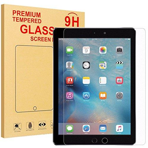 LEDNICEKER Screen Protector for New iPad 9.7 (2018/2017)(iPad 5 & 6) / iPad Pro 9.7 / iPad Air 2 / iPad Air,HD Clear 9H Tempered Glass Screen Protector, Anti-Scratch Anti-Fingerprint