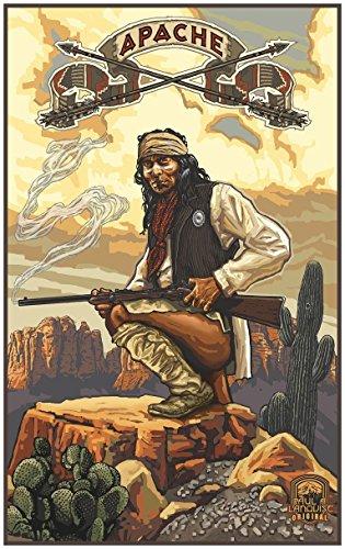 Apache Travel Art Print Poster by Paul A. Lanquist (24