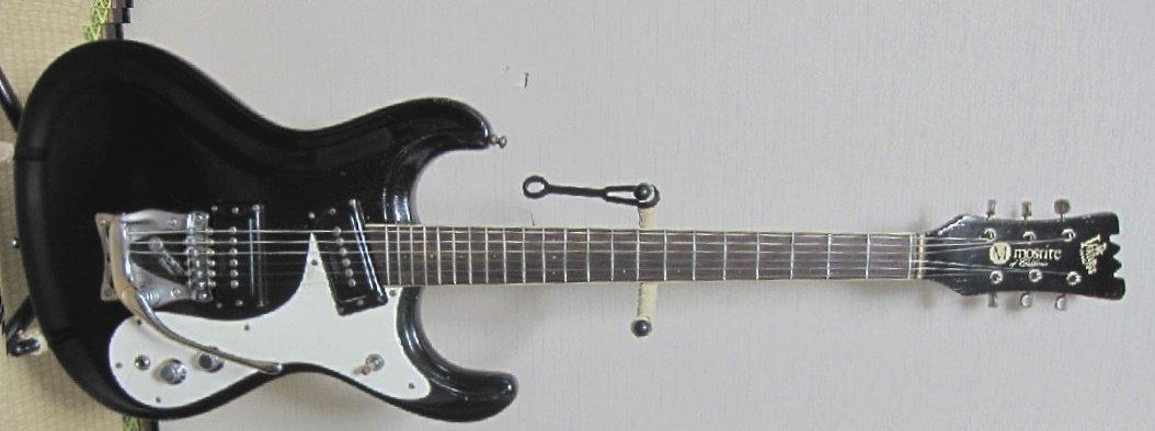 MOSRITE USA 1966年製 ビブラミュート付 ブラック モズライト B07CWN74QR
