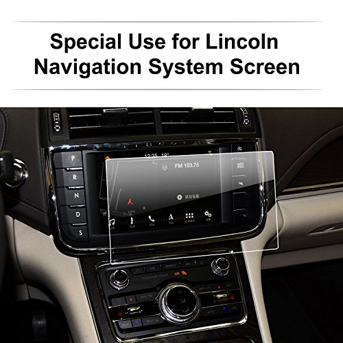 - 2016-2017 8-Inch Lincoln Continental Navigator MKZ MKC MKX Car Navigation Screen Protector, LFOTPP Clear Tempered Glass Infotainment Display in-Dash Center Touch Screen Protector