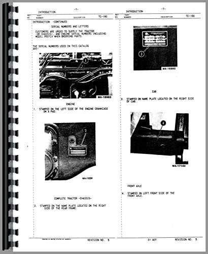 International Harvester 3588 Tractor Parts Manual