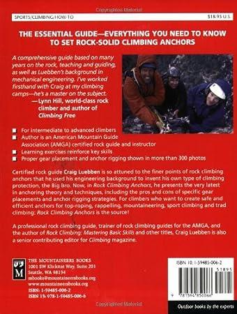 Amazon.com: Rock Climbing Anchors: A Comprehensive Guide (Mountaineers  Outdoor Expert) (9781594850066): Craig Luebben: Books
