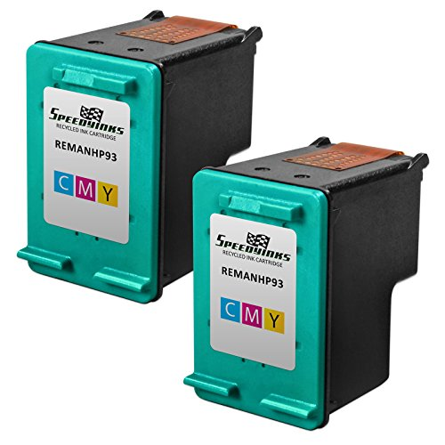 Speedy Inks - 2PK Remanufactured replacement for HP 93 C9361WN Tri-Color Ink Cartridge for use in Deskjet 5420, 5420v, 5440, 5440v, 5440xi, 5442, 5443; OfficeJet 6310, 6310v, 6310xi