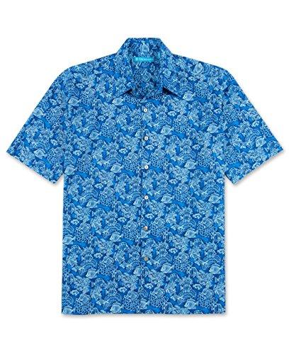 Tori Richard Big and Tall Barrier Reef Hawaiian Camp Shir...
