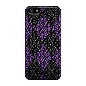 Case Cover Sweater Purple/ Fashionable Case For Iphone 5/5s