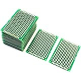 uxcell® 25Pcs Double Sided Protoboard Prototyping PCB Board 4cm x 6cm