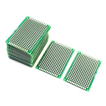 uxcell a14041800ux1143 25pcs double sided protoboard prototyping pcb rh amazon com Electrical Panel Board Gecko Circuit Board Wiring Diagram