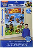 Amscan Paw Patrol Scene Setters Wall Decorating Kit Party Supplies , Multicolor, 60 Pieces