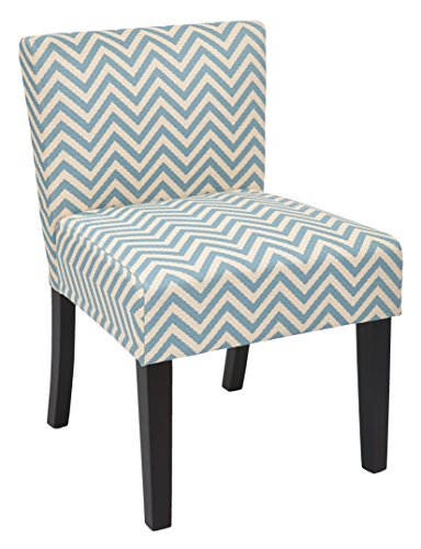 INSPIRED by Bassett Bristol Fabric Accent Chair with Solid Wood Legs, Ziggi Mist (Accent Bassett By Inspired Chair)