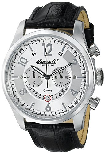 Ingersoll Men's INQ007WHSL Chelsea Analog Display Japanese Quartz Black Watch