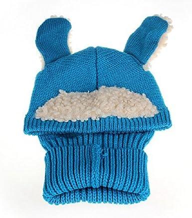 Butterme Inverno del Bambino i Bambini Bambina Bambina Bambino Warm Berretti di Lana Coif Hood Sciarpa Cappelli di Lana a Maglia