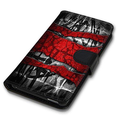 Wallet Book Style Flip Handy Tasche Case Schutz Hülle Schale Motiv Etui für Apple iPhone 6 / 6S - Design Flip MVD73