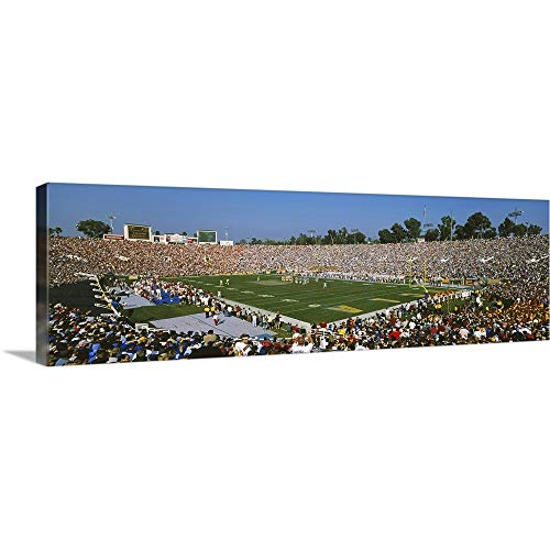 GREATBIGCANVAS Gallery-Wrapped Canvas Entitled Football Stadium Full of Spectators, The Rose Bowl, Pasadena, City of Los Angeles, California by - California Pasadena Bowl Rose