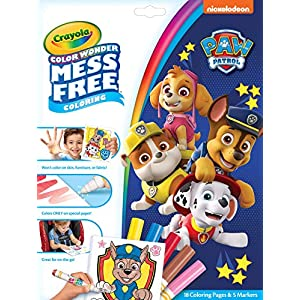 Crayola Color Wonder Paw Patrol Coloring Book Pages & Markers, Mess Free Coloring, Gift for Kids