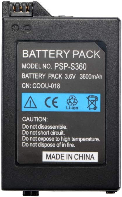 Rechargeable 3.6V 3600mAh Replacement Battery Pack Recharging For PSP 1000 Video Game Console: Amazon.es: Videojuegos