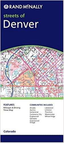 Rand Mcnally Denver Colorado Local Street Detail Rand Mcnally