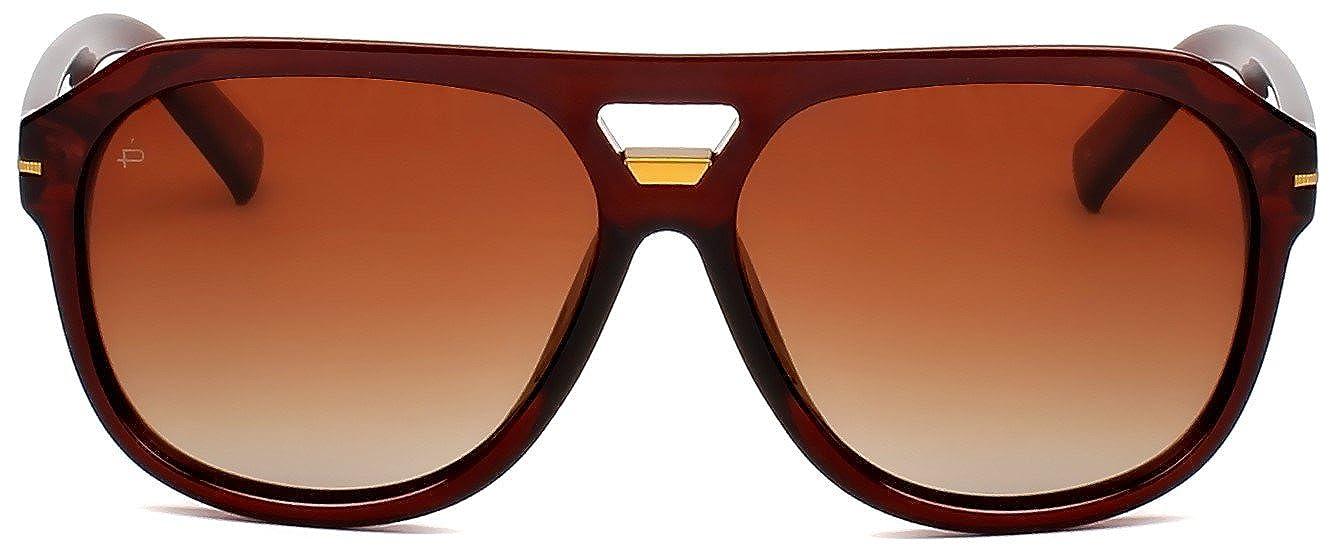 "6dc84bedb5 Amazon.com  PRIVÉ REVAUX ICON Collection ""The Blake"" Designer Polarized  Aviator Sunglasses  Clothing"