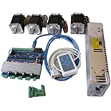 Ten-high CNC Kit 4 Axis Stepper Driver TB6560 + 24V Power Supply + Stepper Motor(dual shaft) + Hand Remote Controller