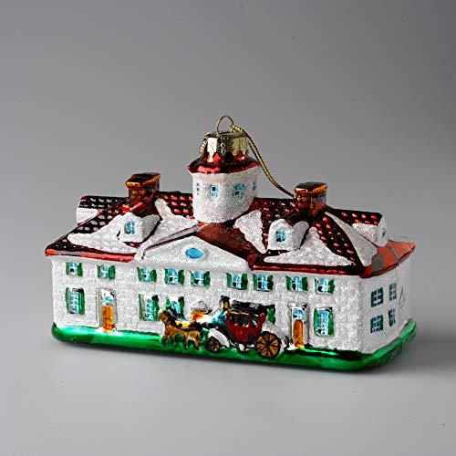 Mount Vernon Mansion Blown Glass Ornament