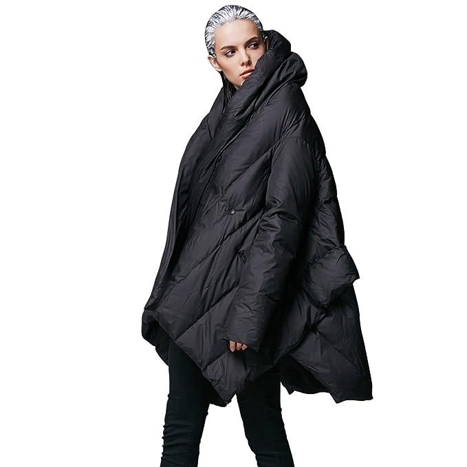 b585316c88 YVYVLOLO Women's Winter Jacket Cloak Loose Parka Warm Coat