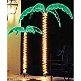 7 Foot High ''SUPER BRIGHT'' LED Lighted Tropical Palm Tree - 5 Times Brighter than Incandescent Bulbs