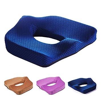 KABSJ chair cushion Cojín de próstata/Cadera Belleza Push Up Acolchado/Silla de Oficina, Alquiler de cojín Acolchado, Silla de Oficina, 45 * 38cm,Café: ...