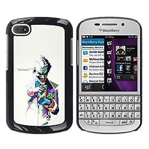 Caucho caso de Shell duro de la cubierta de accesorios de protección BY RAYDREAMMM - BlackBerry Q10 - ¿POR QUÉ TAN SERIO JOKER