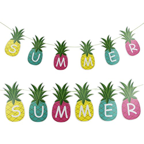 Price comparison product image Summer Pineapple Banner Hanging Decor Hawaiian Party Decorations, 5-feet,Multi-color