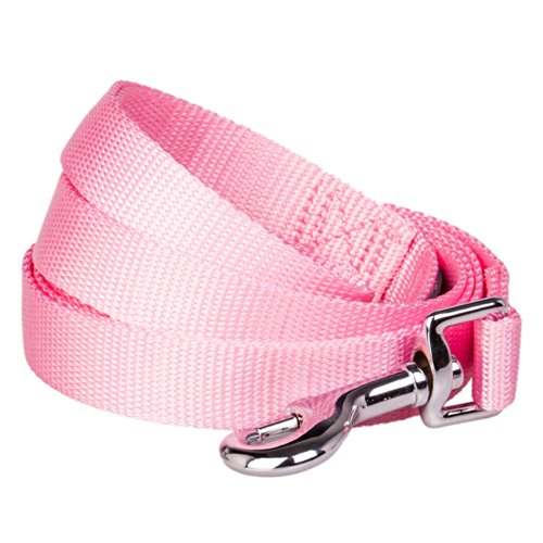 Blueberry Pet 3/4-inch by 5-Feet Better Basic Solid Dog Leash in Rosy Pink, Leashes for Medium Dog