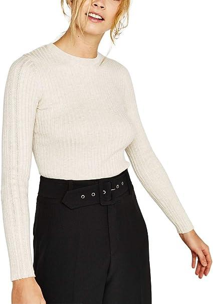 Image ofRaya Jerséis Mujer Invierno Blanco Negro Moda Casual Sueter Jersey Pullover Ropa