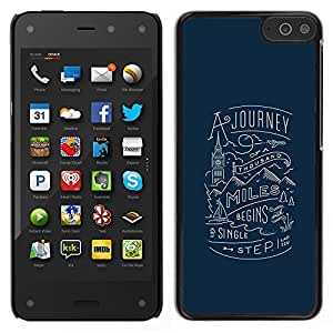 Stuss Case / Funda Carcasa protectora - Mensaje Viaje Mil millas de Londres - Amazon Fire Phone