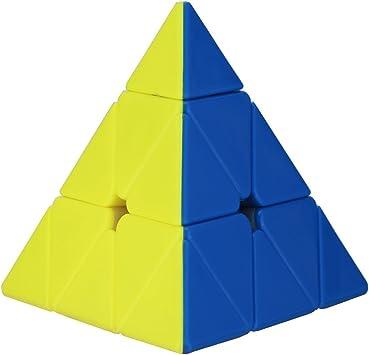 Adichai Super Smooth Stickerless Pyraminx Speed Magic Cube (Multicolour)