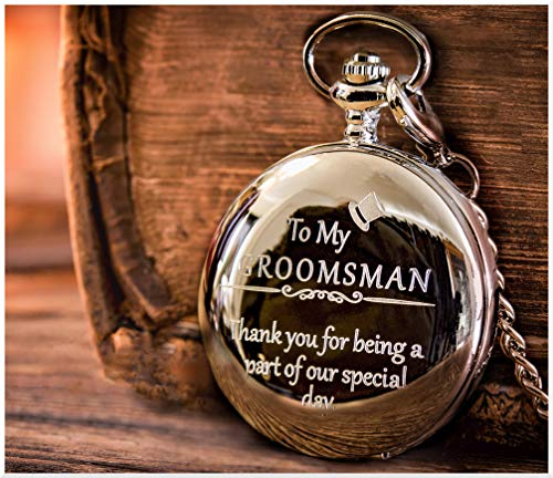 Groomsmen/Groomsman Gifts for Wedding | Best Man | Father of The Bride | Father of The Groom – Pocket Watch Wedding Gifts