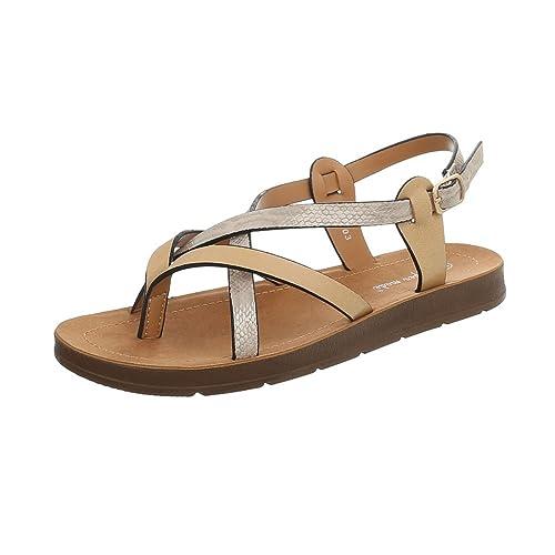 79d5c9b58702 Ital-Design Chaussures Femme Sandales Plat Havaianas Tongs FitFlop  Multicolore Pointure 36