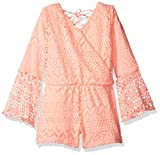 kensie Little Girls' Romper (More Styles Available), 2877 Apricot, 4