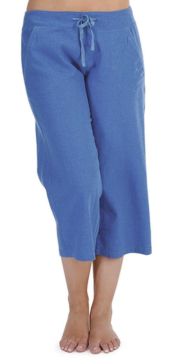 Best Deals Direct Ladies Casual 3//4 Capri Crop Short Linen Trousers Summer