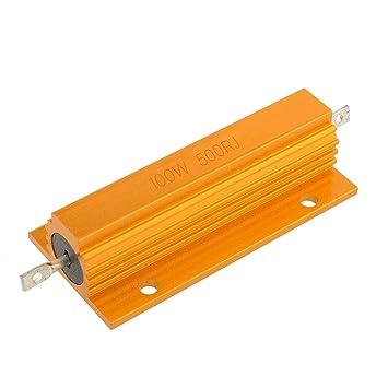 Cáscara de aluminio Cable de resistencia Bobinado 500Ω Resistencia automotriz portátil duradera Resistencia de frenado Draadgewonden