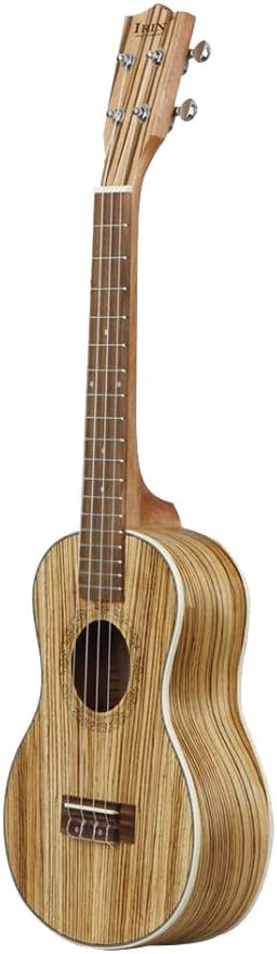 21 pulgadas B Baosity 21//24//26 Pulgadas Ukelele de Guitarra de 4 Cuerdas de Madera de Cebra