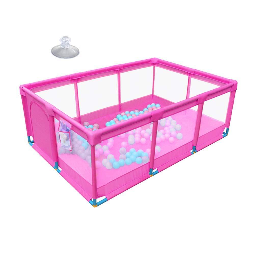 買取り実績  ピンクの赤ちゃんの遊び場、折り畳み式とポータブル、フィットフロアフェンス、強くて丈夫なプレイペン   B07LB8NZK2, 大力屋:a7b0dde1 --- adornedu.com