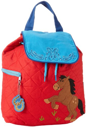 Stephen Joseph Little Boys' Quilted Backpack, Horse, One Size