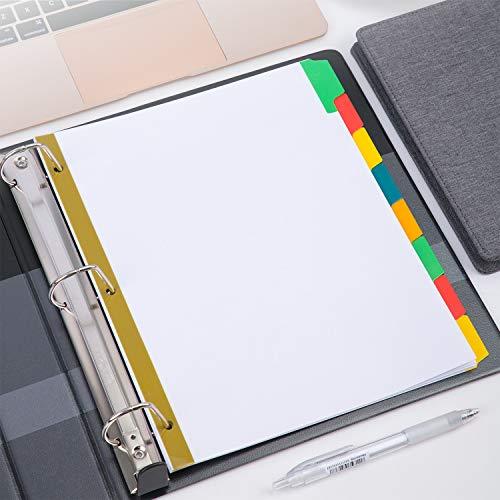 AmazonBasics Big Tab Write-On Paper Dividers, 8-Tab, 4