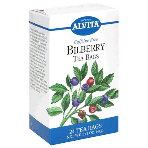 Alvita Tea Bags, Bilberry, Caffeine Free, 24 tea bags (Pack of 3) by Alvita